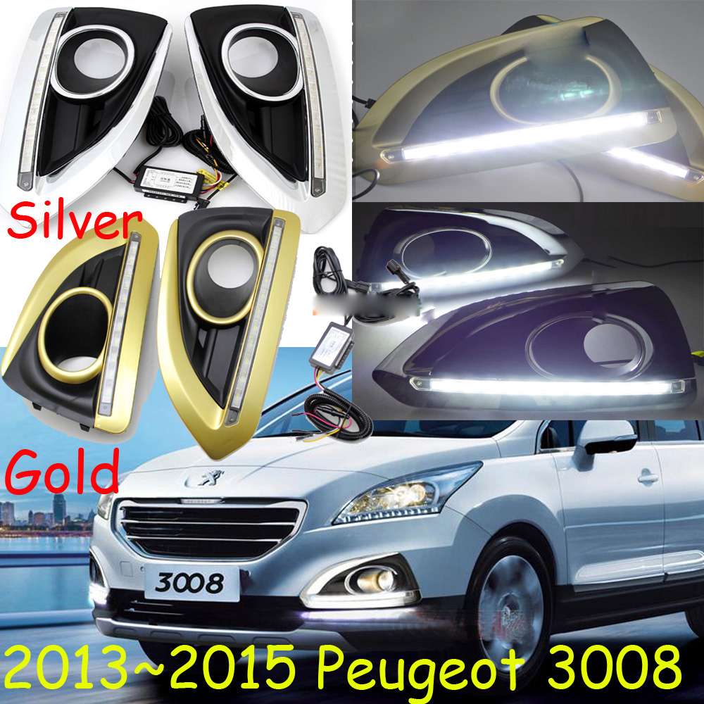 LED,2013~2015 Peugeo 3008 daytime Light,Peugeo 3008 fog light,Peugeo 3008 headlight, 408 4008 508 Raid RCZ,Peugeo 3008 Taillight