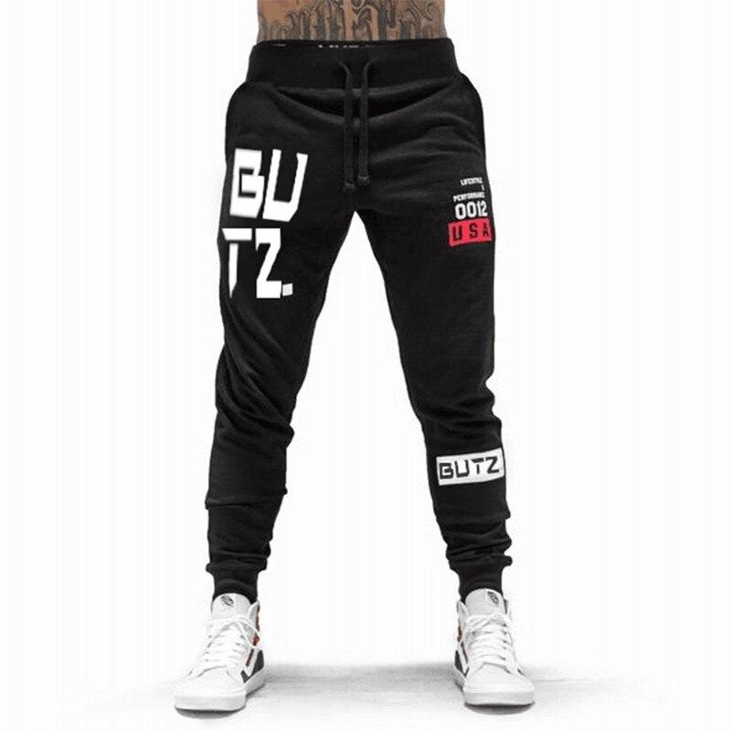Autumn Men's Trousers 2019 Fall Men's Trousers Mens Pants Fitness Sweatpants Gyms Joggers Pants Workout Casual Pants Black Pants