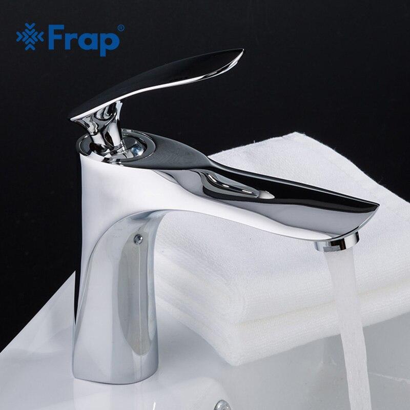 FRAP горячей и холодной воды бассейна кран для Ванная комната коснитесь одной ручкой воды раковина смеситель хромированный цинковый воды сме...