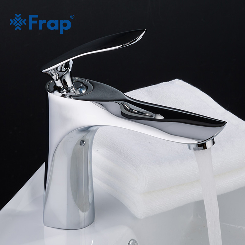 FRAP Hot And Cold Water Basin Faucet For Bathroom Tap Single Handle Water Sink Tap Mixer Chrome Plated Zinc Water Faucets Y10054