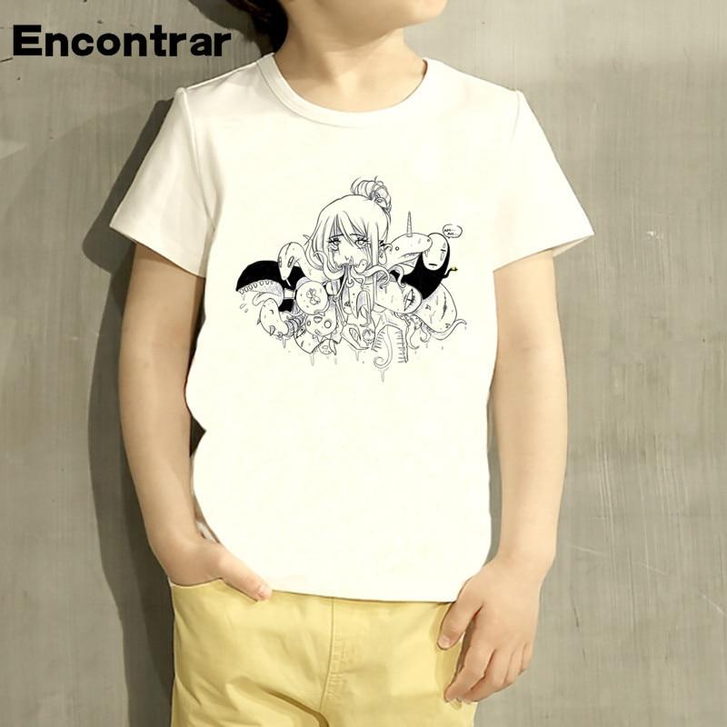 Childrens Poor Anime Ahegao Design Baby Boys Girl T Shirt Kids
