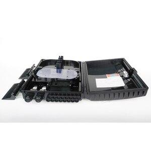 Image 4 - Boîtier de terminaison à fibers optiques 16 cœurs boîtier de distribution de fibers optiques 16 ports boîtier de répartiteur de boîtes à fibers optiques 2X16 cœurs FTTX noir