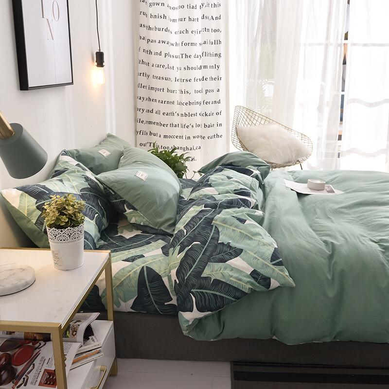Luxury Cotton Bedding Set Double-sided Use Bed Set Twin Queen Size Duvet Cover Set Grey Blue Pink Bed Sheet 3 stylesLuxury Cotton Bedding Set Double-sided Use Bed Set Twin Queen Size Duvet Cover Set Grey Blue Pink Bed Sheet 3 styles