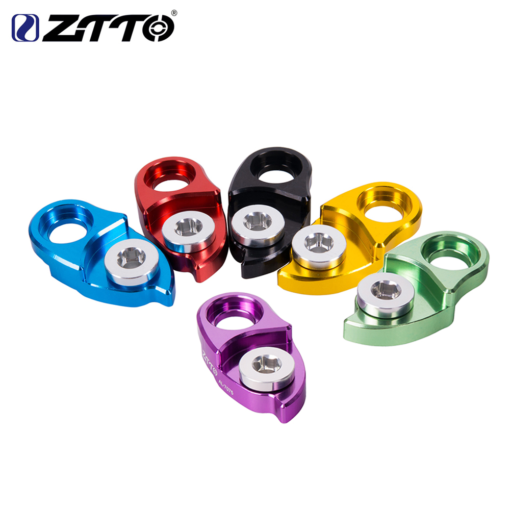ZTTO MTB Road Bike CNC Bicycle Rear Hanger Derailleur Extension Extender FOR Wide Ratio Cassettes Colorful Roadlink Bicycle Part ztto 11t mtb bicycle rear derailleur jockey wheel ceramic bearing pulley al7075 cnc road bike guide roller idler 4mm 5mm 6mm