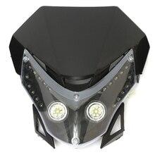 High Quality Dirtbike Motorcycle LED Headlight  Sport Fairing ABS Light
