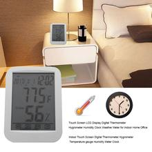 Wholesale prices Touch Display Digital Thermometer Hygrometer Humidity Clock Weather Meter Indoor Children's Room House with AAA Battery