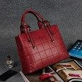 2016 Moda Couro PU Senhoras das Mulheres Tote Bag Bolsas Casual Mulheres Messenger Bags Moda Bolsas de Ombro Crossbody Bag