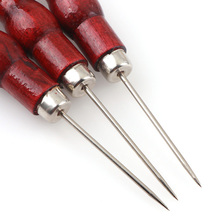 2 шт. красный цвет Кожа ремесло наконечник шило ручной инструмент для шитья кожаный край Slicker набор шил перфоратор позиционирование сверла инструменты