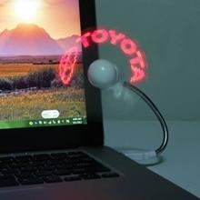 Novelty DIY Programming Shining Words Funny Mini USB LED Fan Flexible Programmable LED Cooler Cooling Fan for Laptop Desktop