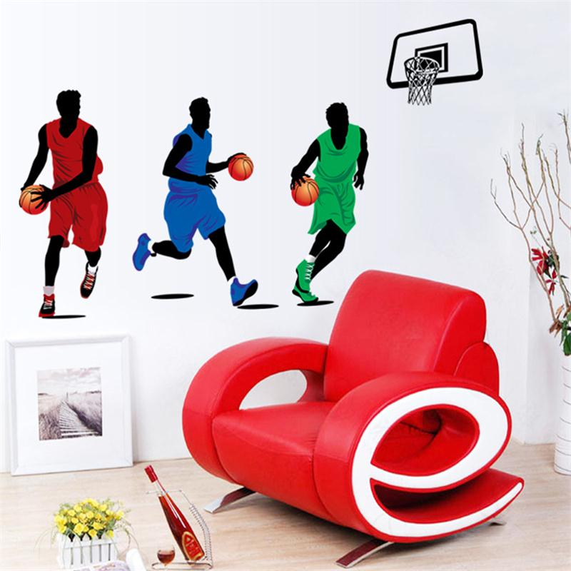 Cartoon Basketball Player Wall Stickers For Kids Rooms Home Deocr Boys Gifts Party Game Supply Pvc Wall Decals Diy Mural Art Wall Stickers Aliexpress