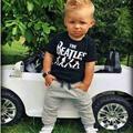 Новый 2017 Baby Boy одежда 2 шт. Короткий Рукав Футболки Топы + Брюки Наряд Комплект Одежды Костюм с The Beatles печатные