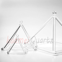12 Bigger Size Clear Crystal Singing Pyramid For Sound Energy Healing And Music Therapy