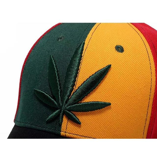 Casquettes de Baseball en feuilles de chanvre   Casquettes de Baseball pour femmes et hommes, Patchwork Camouflage à bord Hip Hop vert feuille dérable, casquettes de soleil Camouflage, nouvelle collection 2017