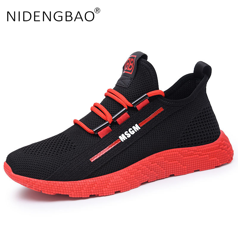 High quality Men Shoes Breathable Running Shoes For Men Outdoor Lightweight Lace Up Sneakers Mesh Sport Shoes Zapatillas Hombre(China)