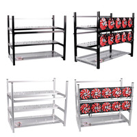 New High Quality 12 GPU Mining Rig Aluminum Computer ETH Open Air Stackable Case Frame For