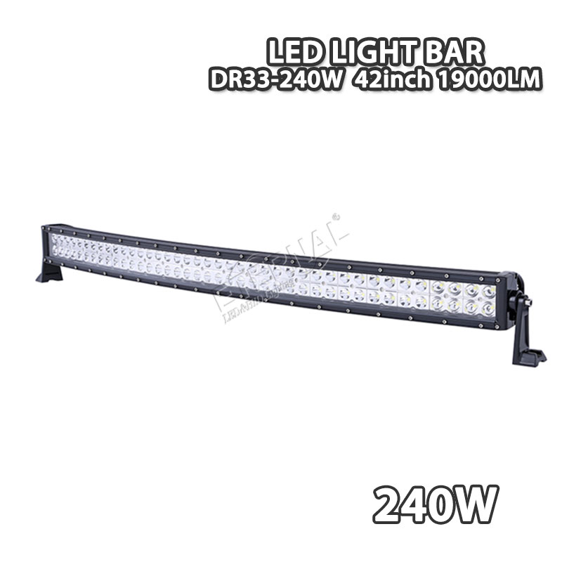 240W led light bar offroad driving headlight Tractor Boat OffRoad 4WD 4x4 Car Truck SUV ATV radius roof led lights hello eovo 5d 32 inch curved led bar led light bar for driving offroad boat car tractor truck 4x4 suv atv with switch wiring kit