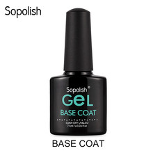 Sopolish Base Gel 7.5ML Black Bottle Nails Vernis Long-Lasting Shiny Nails Manicure Soak-Off UV/LED Lamp Gel Nail Polish(China)