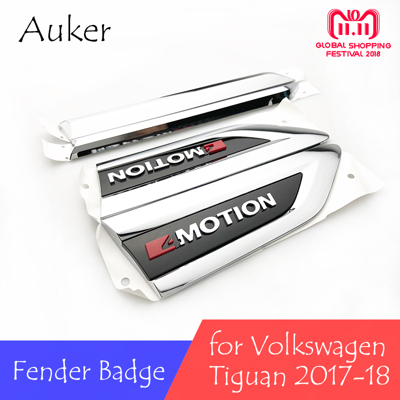 For Volkswagen VW 2017 2018 MK2 Car Original Side Wing Fender Emblem with 4 motion Badge Door Garnish Sticker Trim Car Styling