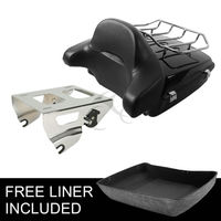 Motorcycle Motorbike Chopped Tour Pak Pack Trunk Backrest Rack For Harley Touring Street Electra Glide Road King 14 18