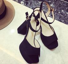 ladies sandals 2019 top quality women high heels summer fashion Euramerican sty classic  princess shoes
