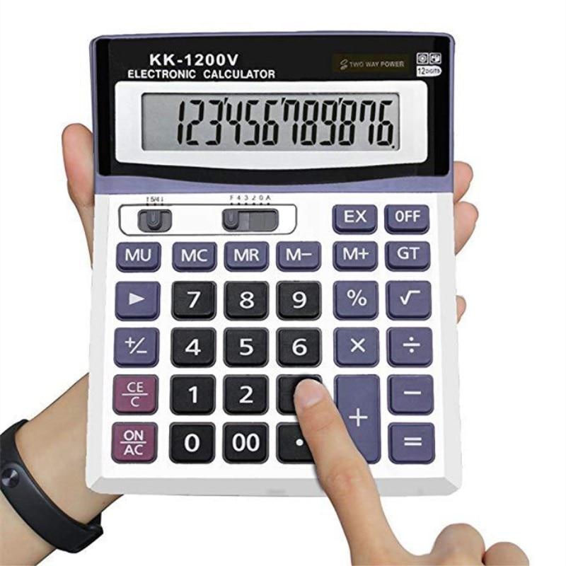 Desktop-Calculator Lcd-Screen 12-Digits Electronic Multi-Function Solar Large Wholesale