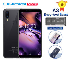 "UMIDIGI A3 Global Band 5.5""incell HD+display 2GB+16GB smartphone Quad core Android 8.1 12MP+5MP Face Unlock Dual 4G Mobile phone(China)"