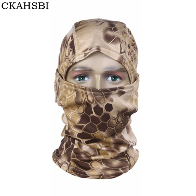 CKAHSBI 3D Hunting Hunter Camouflage Camo Headgear Balaclava Men Face Mask For Wargame Paintball Hunting Cycling Mask Equipment