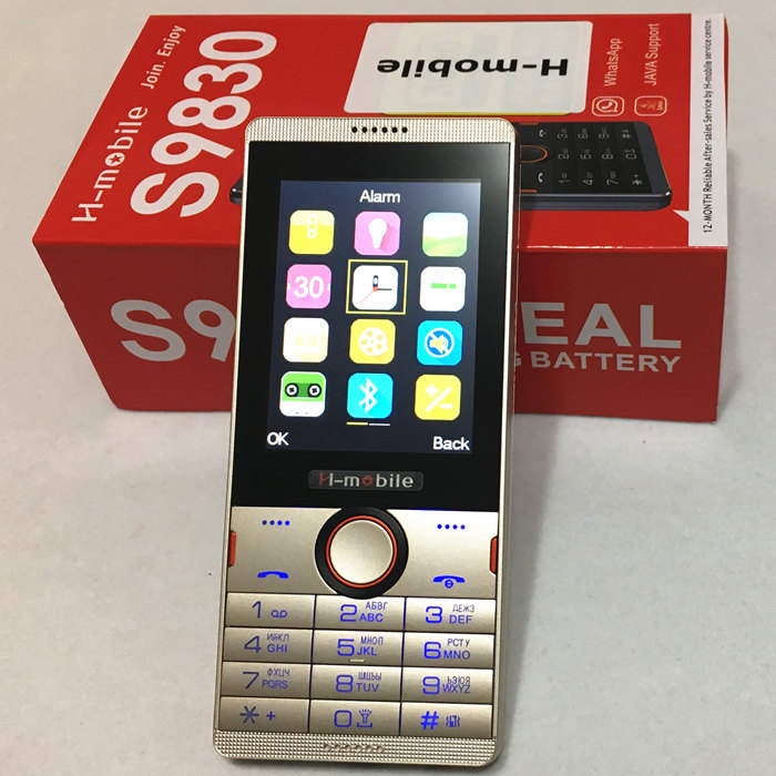S9830 dual SIM dual standby mobile phone 2 8 inch screen cell phone Russian keyboard phone