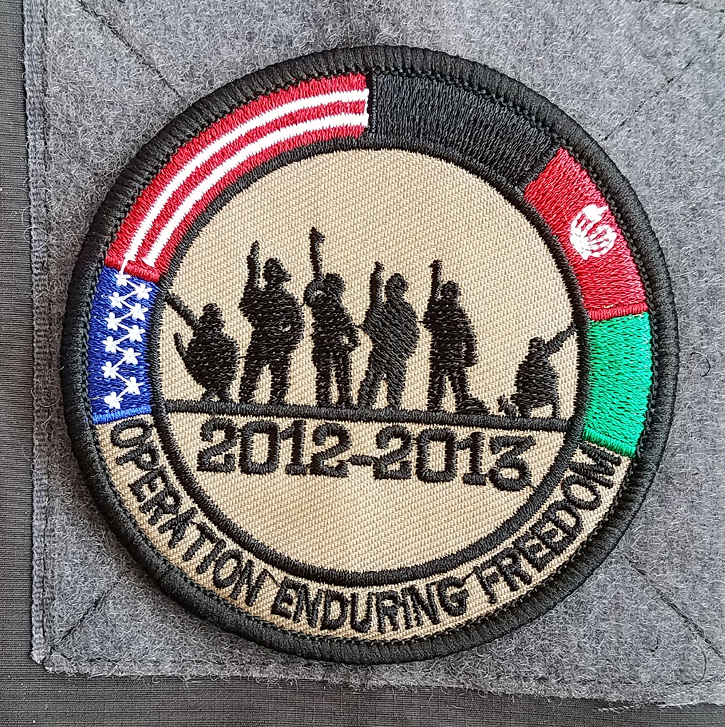 US Military OPERATION ENDURING FREEDOM <font><b>Afghanistan</b></font> Embroidery Magic Sticker Hook&Loop Badge Personality Armband Patch image