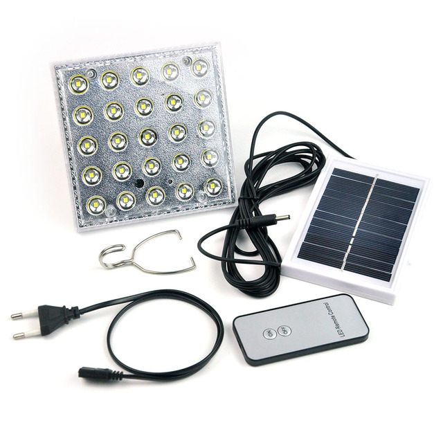 25led Solar Camping Light Solar Multifunction Remote
