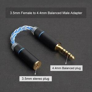 Image 3 - OKCSC אודיו מתאם כבל 4.4mm זכר ל 3.5mm נקבה 4 ליבות גביש יחיד נחושת עבור SONY P