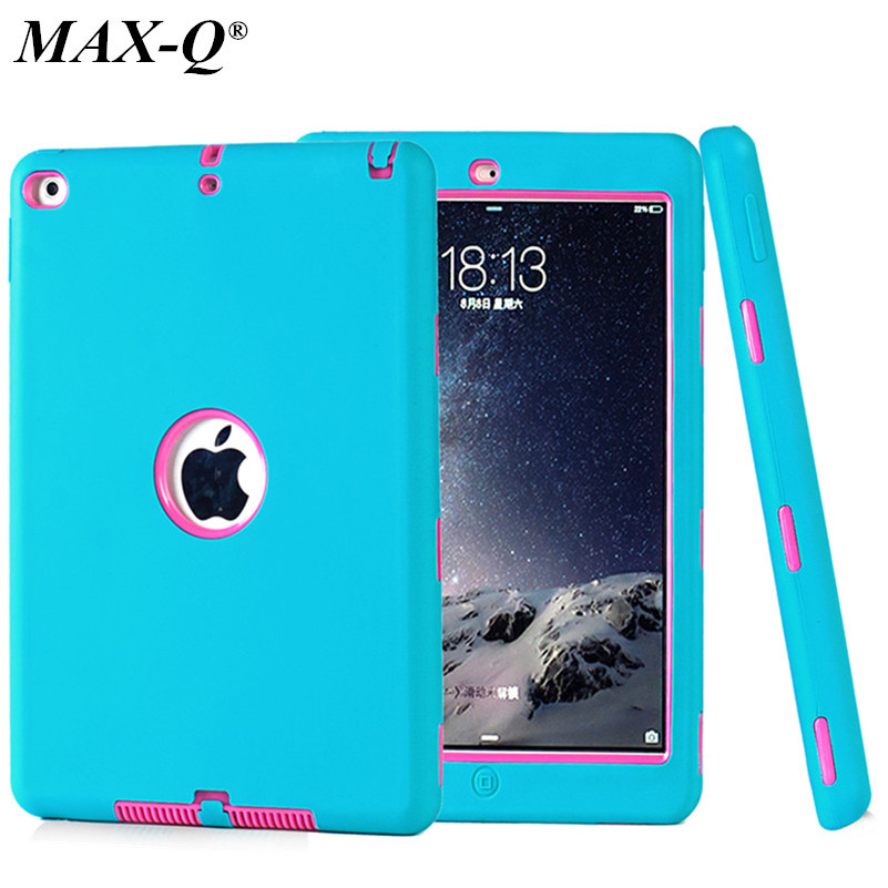 NEW For Apple ipad 6/ipad air 2 case Amor Heavy Duty Drop resistance Shock Proof tablet Case free Screen protector film+stylus