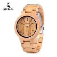 BOBO BIRD WP23 Simple Quartz Watches All Original Bamboo Wristwatch With Date Display for Men Women Quartz Watches