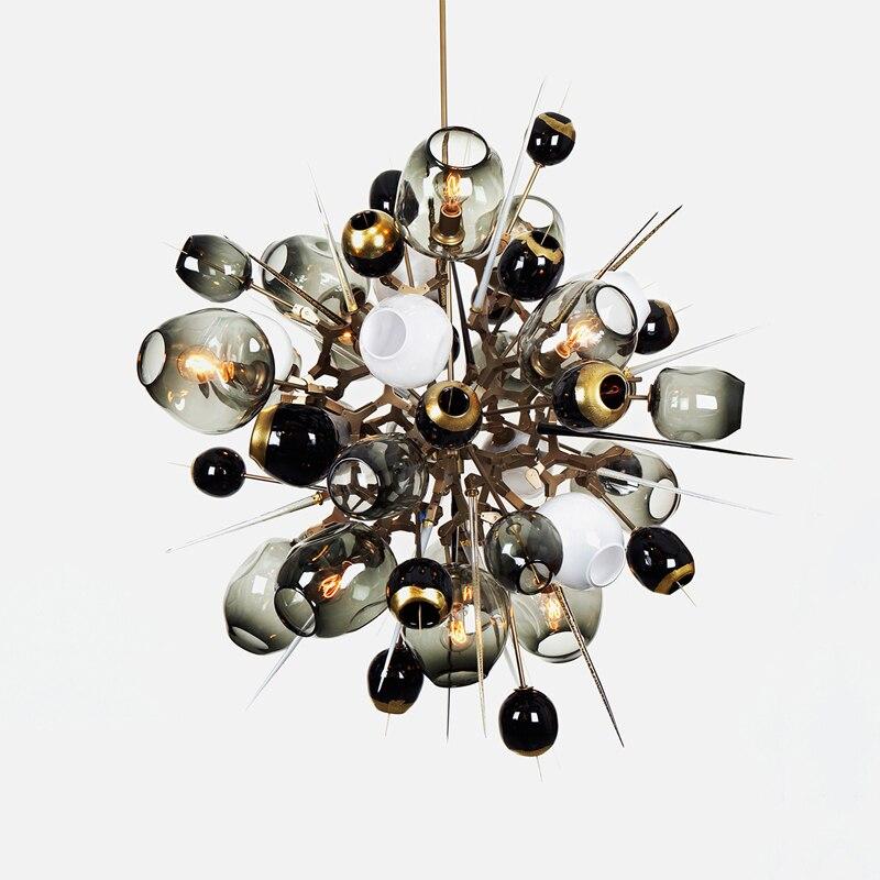 Книги по искусству деко Стекло мяч JA люстра освещение современной гостиной висит освещение бара hotel Lighitng