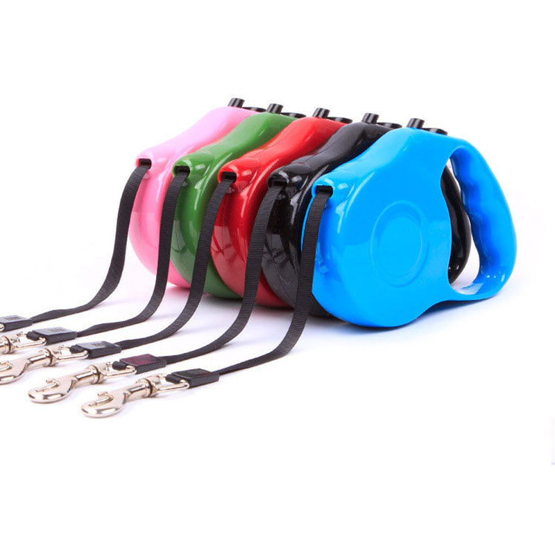 NEW 3M Retractable Dog Leash Extending Puppy Walking Leads Lock Training Adjustable Strip Rope Pet Collar for Dogs Cats