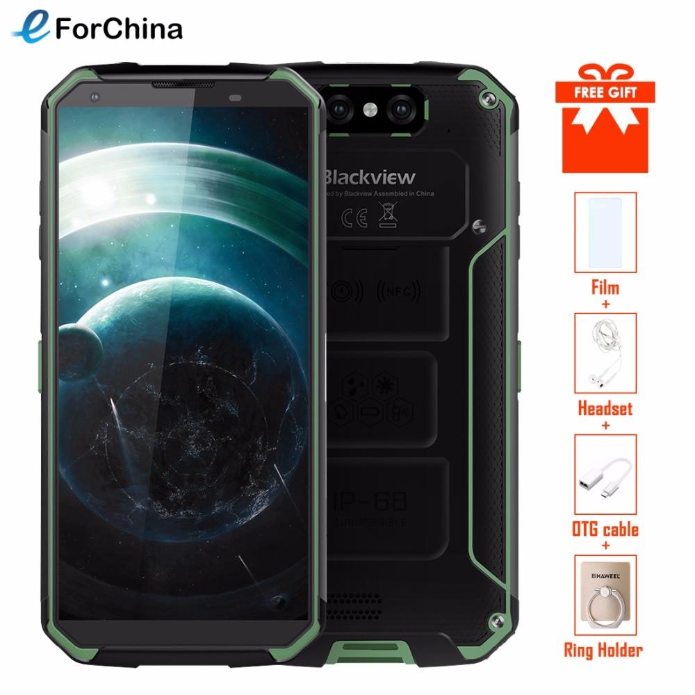 Blackview BV9500 5.7 18:9 HD Écran Sans Fil De Charge Téléphone MT6763T Octa base Android 8.1 4 gb RAM 64 gb ROM Smartphone OTG NFC