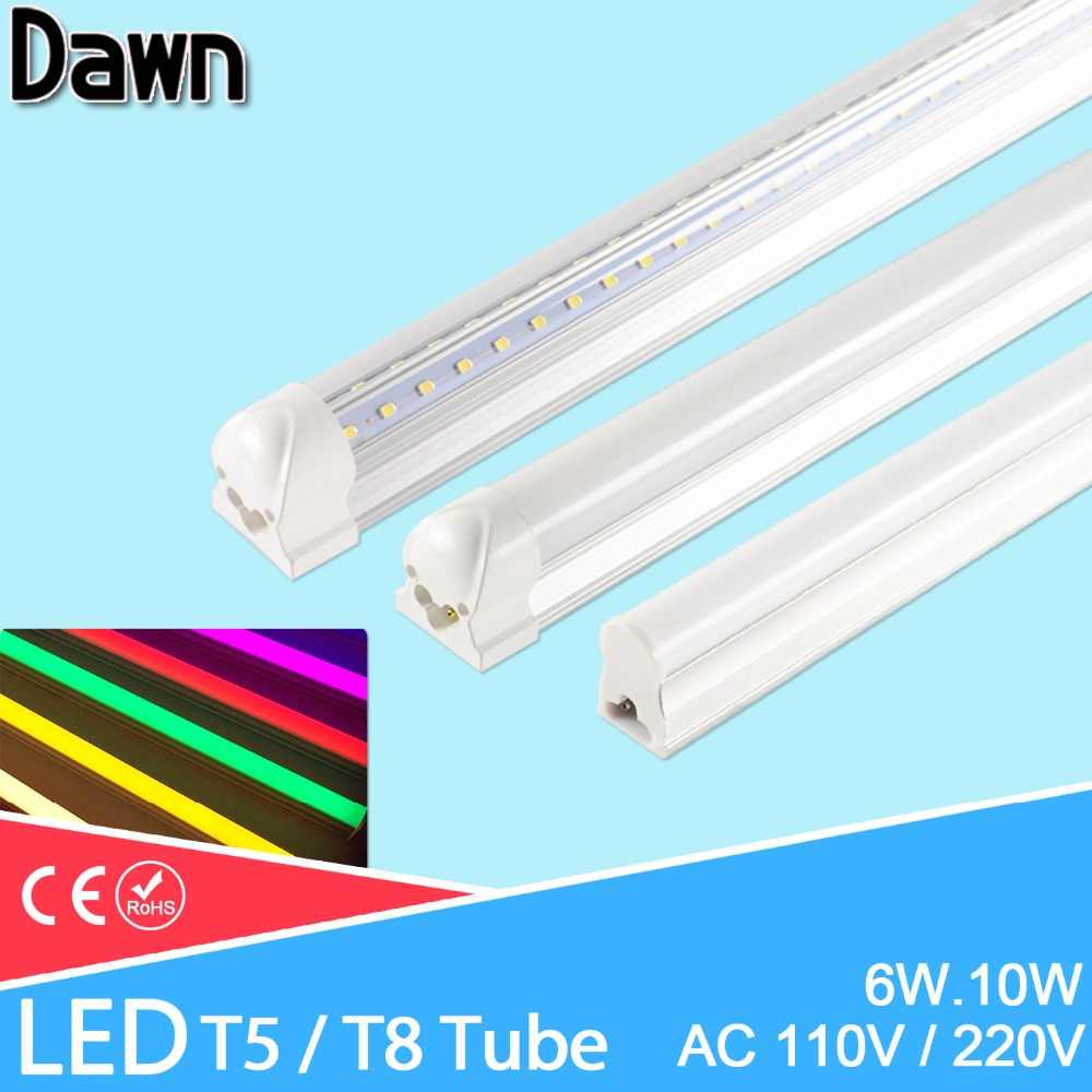 LED Buis T5 T8 led buis 6w 10w 20w AC220V 240V 1.5m Schakelaar Kabel Draad led buis 600mm 300mm Dubbele-End Kabel 3pin led lamp