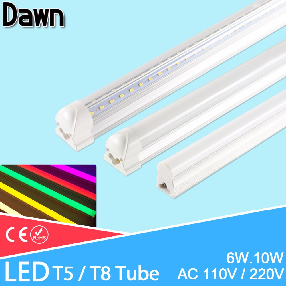 LED Tube T5 T8 Led Tube 6w 10w 20w AC220V 240V 1.5m Switch Cable Wire Led Tube 600mm 300mm Double-End Cable 3pin Led Lamp