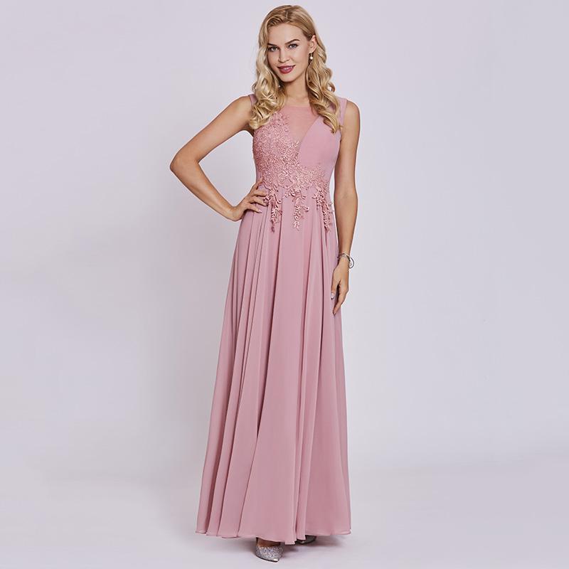 c3c611a26ec Tanpell appliques prom dresses peach sleeveless floor length a line gown  cheap women scoop neck evening formal long prom dress
