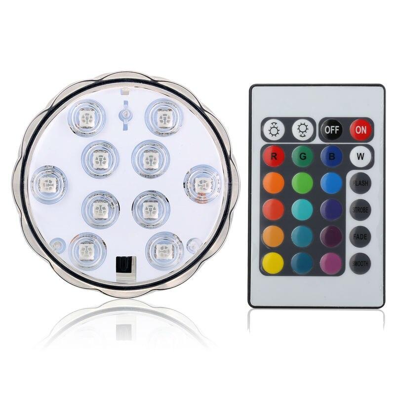 4pcs RGB Multi Colors Remote Control Submersible LED Gadget Light, LED Vases Base Light For Wedding Party Celebration Supplies