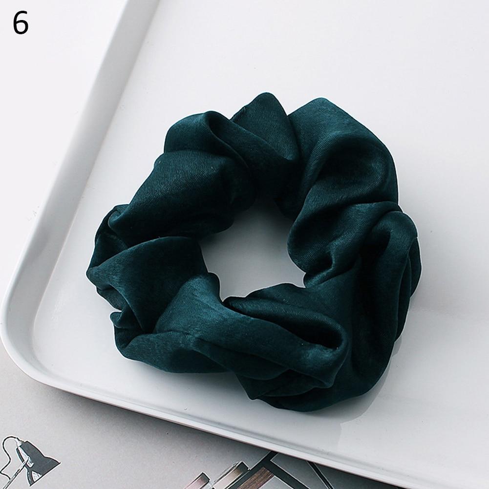 Новое поступление модные женские красивые атласные резинки для волос яркого цвета резинки для волос для девушек аксессуары для волос конский хвост держатель - Цвет: 6