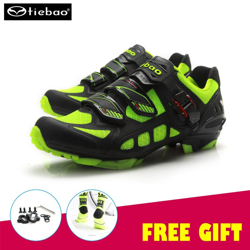 цена на Tiebao cycling sneakers Outdoor Mountain Bike Shoes Self-locking cycling shoes sapatilha ciclismo mtb SPD system men and women
