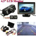 4.3 Inch TFT LCD Car Rear View Mirror Monitor Parking Rearview Monitor + 7 LED IR Lights Car Rear View Reverse Camera System Kit