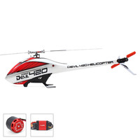 ALZRC Devil 420 Helicopter 420 FAST FBL Combo (Included 60A V4 Brushless ESC and BL3120 Motor ) Silver Standard