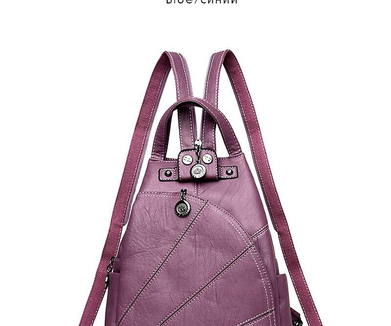 HTB1PvHQeICNZ1JjSZFHq6z.kVXaM 2019 Women Anti-theft Leather Backpacks Female Ladies Backpacks For School Retro Sac a Dos Femme Female School Shoulder Bags