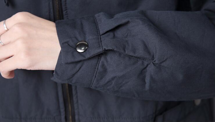 À Nouvelle Rembourré Femmes Le Printemps Veste 3xl Paragraphe ardoisé 2018 Mode Capuchon Noir Long M Hot bourgogne Dans Lâche SwqBR47