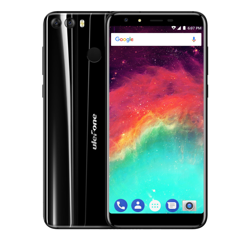 Ulefone Mix 2 4G Telephone Android 7.0 5.7 Inch Quad Core 2GB RAM 16GB ROM Full Screen Fingerprint Scanner OTG Function Phone
