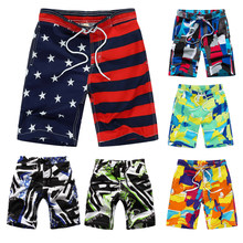 2019 New Beach Shorts For Kids Surf Board Short Custom Child Swim Trunks Boy's Sport Wear American Flag 7-14 Years Board Shorts(China)