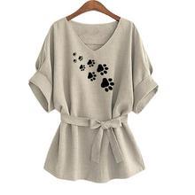 Belted Ladies Paw Shirt