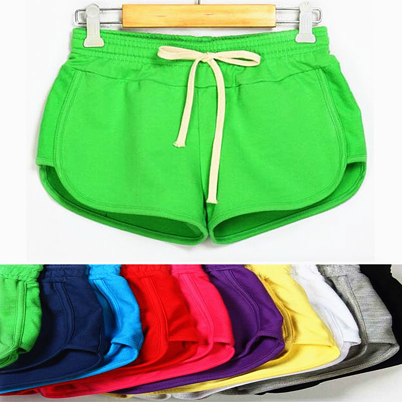 2017 Spring Summer Shorts Women Candy Color Drawstring -9266